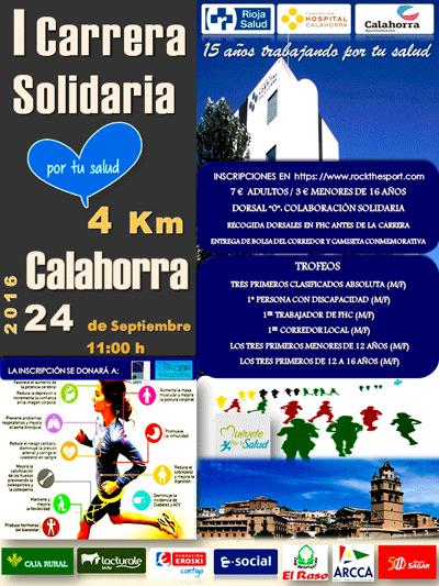 La primera edición de la Carrera Solidaria de la Fundación Hospital de Calahorra se celebrará el próximo sábado a beneficio de ARPS y el CIBIR
