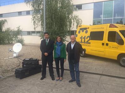 El SOS Rioja se refuerza con un nuevo equipo de comunicación por satélite que se ubicará en el Puesto de Mando Avanzado