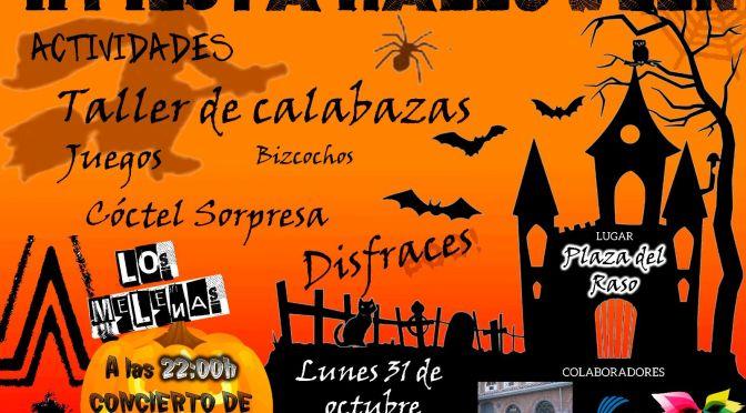 La calagurritana plaza del Raso acogerá la Fiesta de Halloween el 31 de octubre, además la Biblioteca municipal también celebrará una fiestas fantasmal