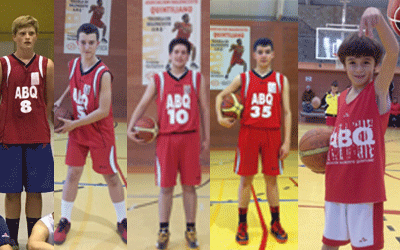 Jugadores de la ABQ con la selección de La Rioja