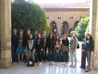 Un grupo de alumnos berlineses visita el Ies Valle del Cidacos