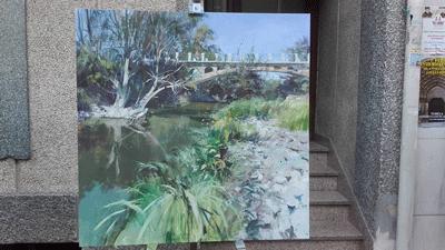 El antiguo puente del Ega, ganador del IX Concurso de pintura al aire libre