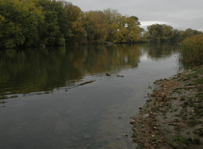 Aviso de la crecida del Ebro en Alfaro