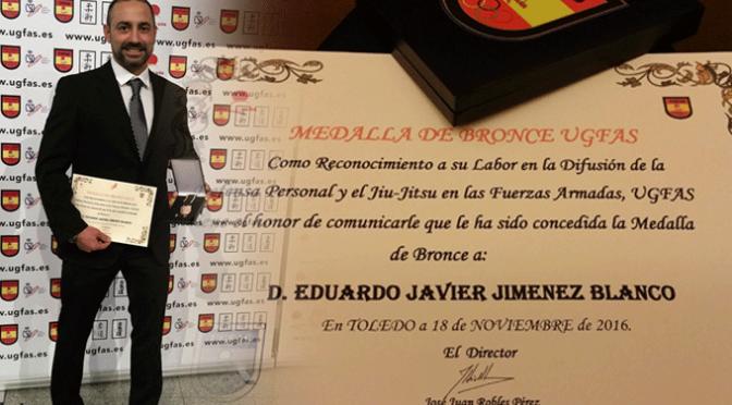 Eduardo Javier Jiménez Blanco medalla de Bronce de UGFAS