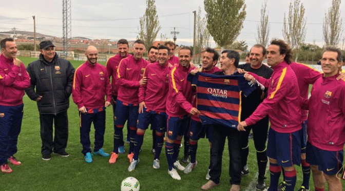 Imágenes del Partido 50 Aniversario entre el CD Pradejón y el FC Barcelona de Veteranos