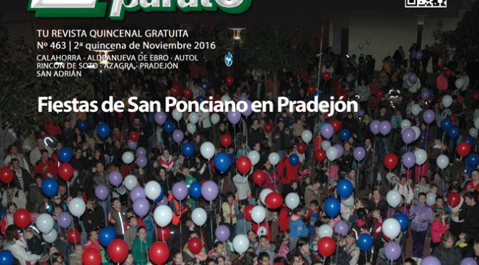 Escaparate 2ª Quincena de Noviembre, especial Fiestas de San Ponciano en Pradejón
