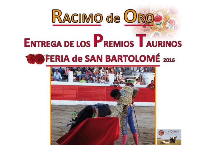 Entrega de los premios taurinos de la Feria de San Bartolomé 2016