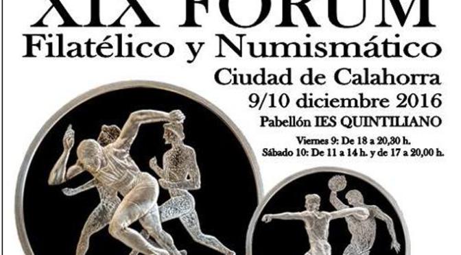 """XIX Forum filatélico y numismático""""Ciudad de Calahorra"""""""