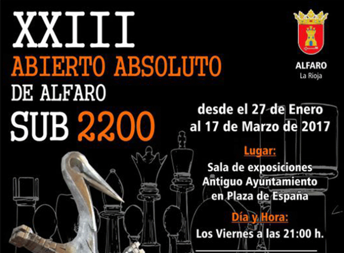 XXIII Abierto Absoluto de Alfaro Sub 2200