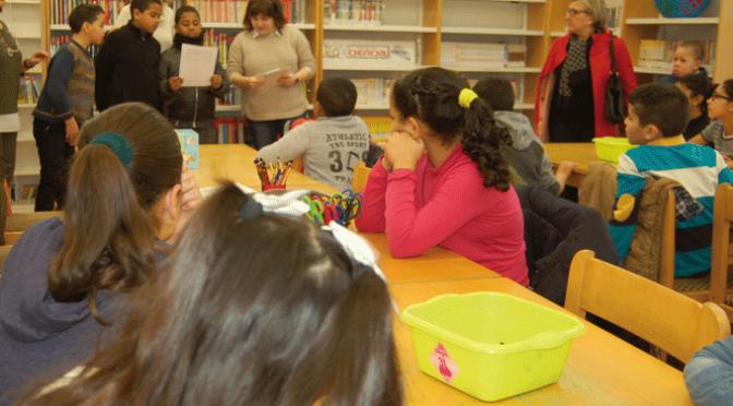 Escolares de Calahorra visitan La Biblioteca con motivo de la Semana de la Paz