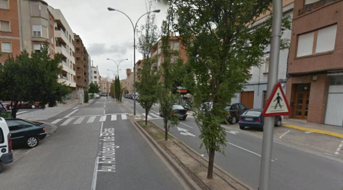 La avenida Achútegui de Blas pasa a tener un único carril de circulación para cada sentido