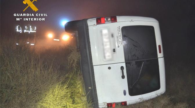 La Guardia Civil detiene a una persona tras sufrir un accidente de circulación y huir a pie del lugar