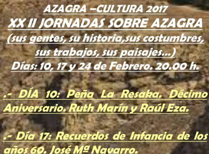 XXII Jornadas sobre Azagra, sus gentes, su historia, sus costumbres…