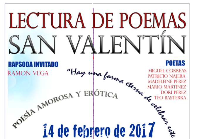 Lectura de poemas de San Valentín