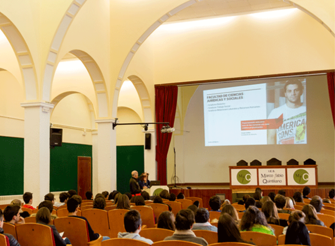 Sesión informativa de la Universidad de La Rioja en el IES Marco Fabio Quintiliano