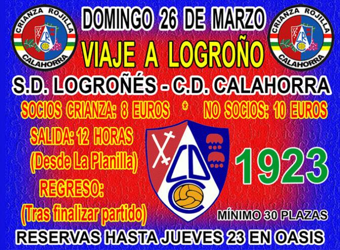 Viaje a Logroño para apoyar al CD Calahorra