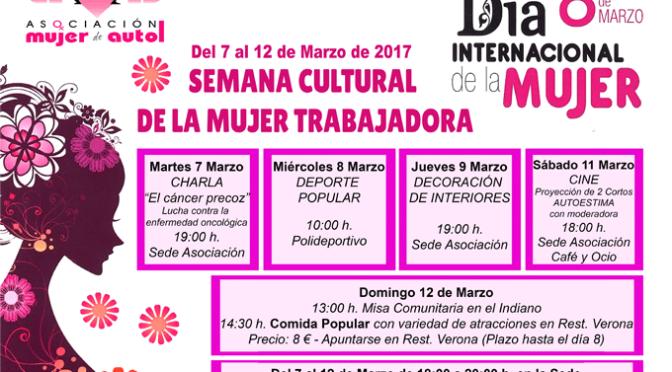 Semana Cultural de la Mujer Trabajadora en Autol