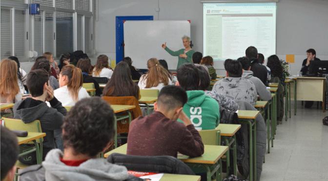 La Universidad de La Rioja en el IES Gonzalo de Berceo de Alfaro