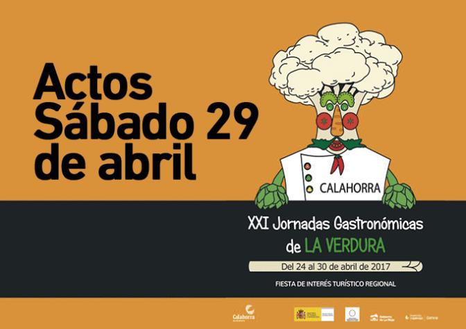 XXI Jornadas Gastronómicas de la Verdura, actos para hoy sábado