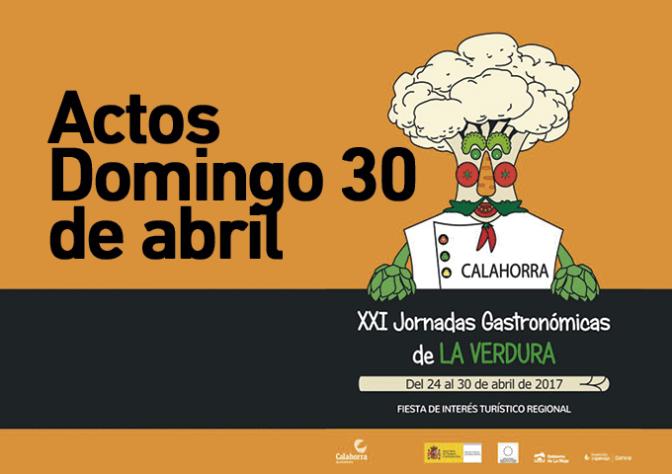 XXI Jornadas Gastronómicas de la Verdura Agenda para hoy domingo 30 de Abril