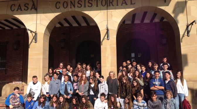 Veintiséis alumnos franceses se encuentran en Calahorra de intercambio con los alumnos del IES Marco Fabio Quintiliano