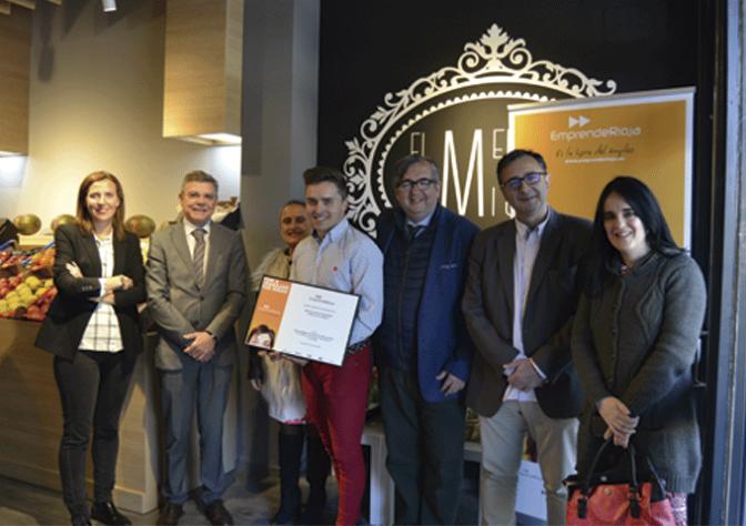 El Mercado de Miguel en Calahorra obtiene el diploma al emprendedor del mes de abril de 2017