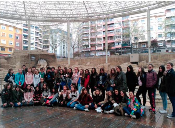 Un grupo de alumnos ingleses de Intercambio en el Valle del C idacos