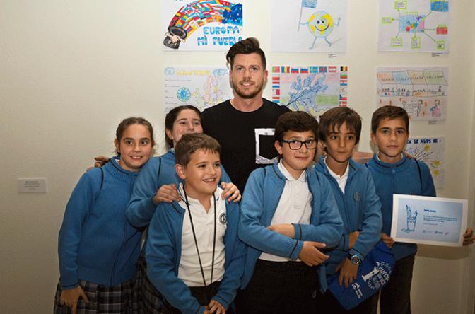 """Alumnos del Colegio La Milagrosa premiados en el Concurso de Dibujo """"Dibuja Europa"""" Enhorabuena."""