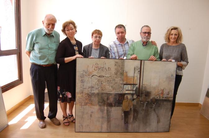 """""""Shop to let"""" obra ganadora del XXI Certamen Nacional de Pintura """"Ciudad de Calahorra"""""""