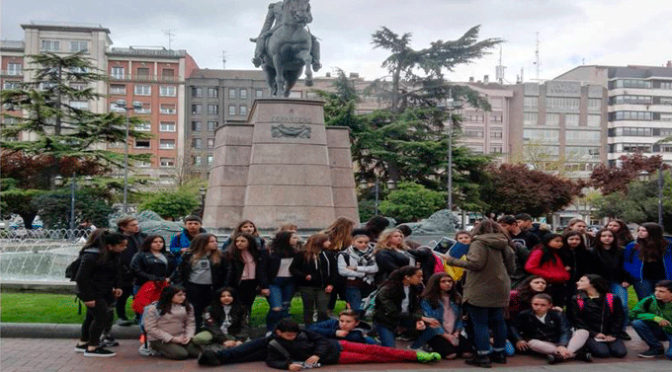 Un grupo de alumnos franceses visitan el Ies Valle del Cidacos
