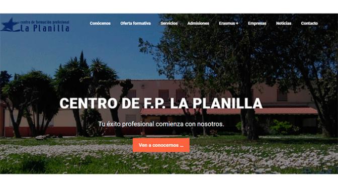 Nueva página web del Centro de FP La Planilla