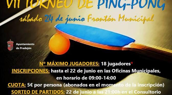 Fin de semana deportivo en Pradejón con Torneo de Ping – pongo y Torneo Infantil 3×3