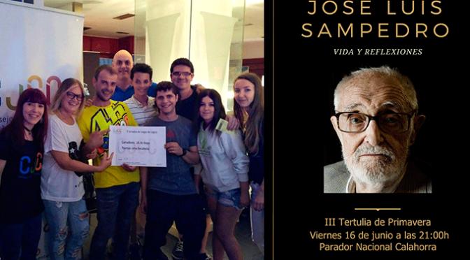 Última sesión de juegos de lógica y tertulia de José Luis Sampedro
