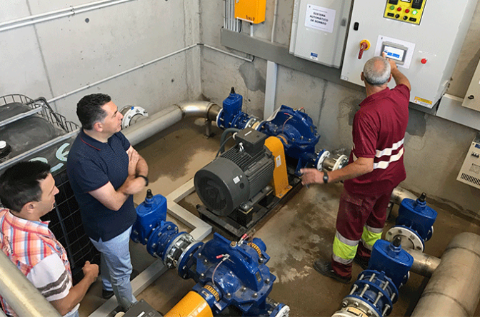 Nuevo depósito de agua potable en Aldeanueva de Ebro