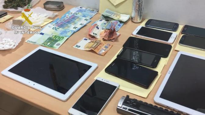 La Guardia Civil desarticula en Calahorra un clan familiar dedicado al tráfico de cocaína y heroína.