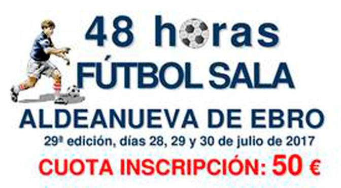 48 horas de Fútbol Sala en Aldeanueva de Ebro