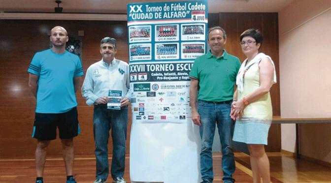 """Este fin de semana XX Torneo de Fútbol Cadete """"Ciudad de Alfaro y  XXVII Torneo Escuela"""