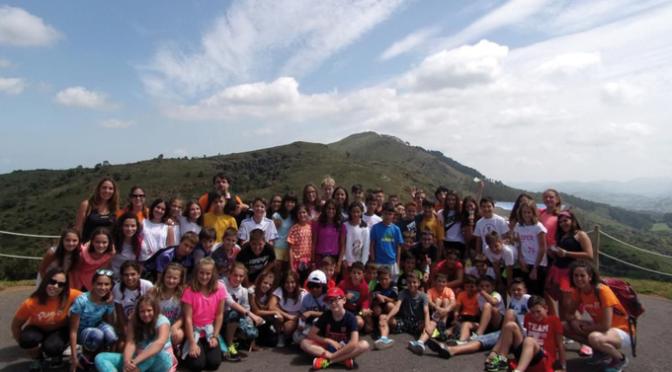 64 jóvenes en el campamento de Cantabria
