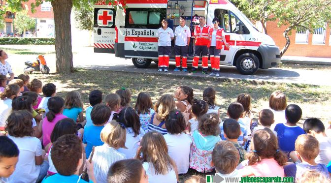 Visita de Cruz Roja Calahorra a la ludoteca infantil La Planilla