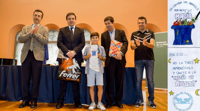 """El CEIP Miguel Ángel Sáinz de Aldeanueva de Ebro gana el Concurso de Dibujo nacional """"Contra el hambre y el despilfarro de alimentos"""""""