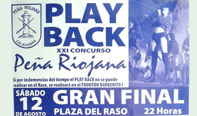 XXI Concurso PlayBack Peña Riojana