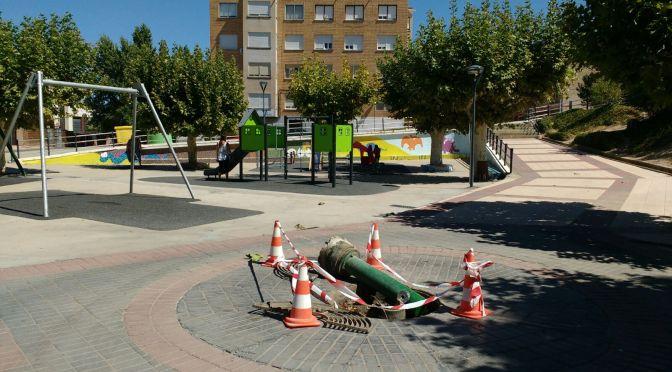 FOTODENUNCIA: Acto vandálico en Alfaro