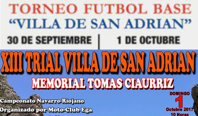 Motocross y fútbol base este fin de semana en San Adrián