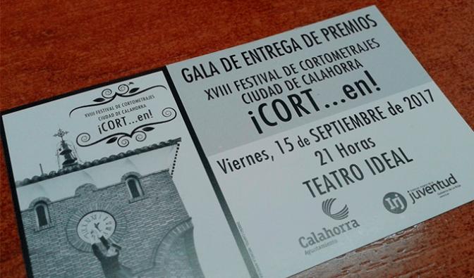 Hoy Gala de entrega de los premios CORTen