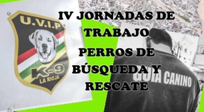 IV Jornadas de trabajo con perros de búsqueda y rescate en Alfaro