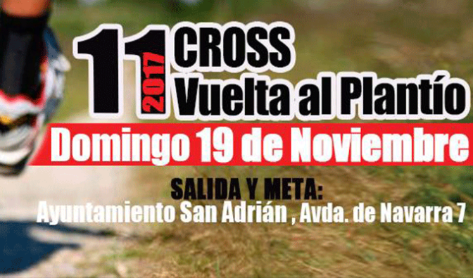 """11º CROSS  """"VUELTA AL PLANTIO"""" de San San Adrián"""