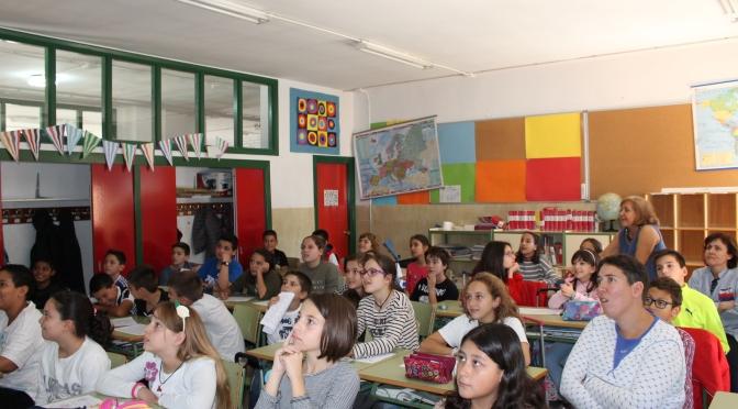 Un visita muy especial en las aulas