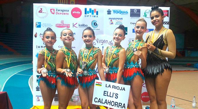Un oro y una plata para las gimnastas del Club Elli´s Calahorra