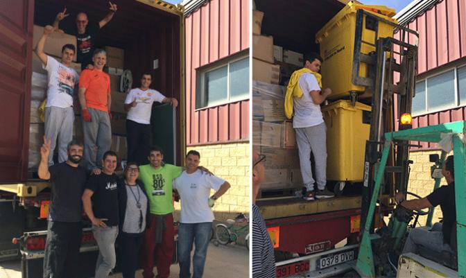 Nuevo contenedor solidario desde Calahorra