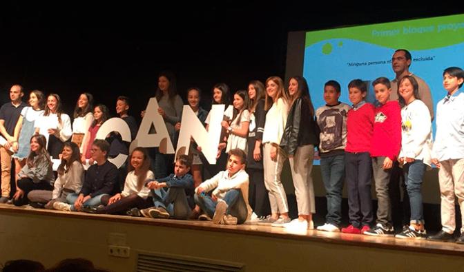 Alumnos de Teresianas en la Gala Design For Change en Madrid
